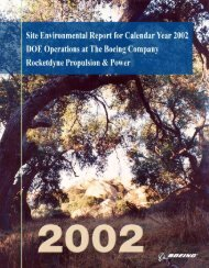 2002 Site Environmental Report. DOE Operations at The Boeing ...