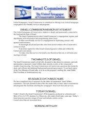 002 USCJ Israel Commission Flyer.pdf - United Synagogue of ...