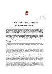 le conseil ecofin a adopte un ensemble de mesures portant sur la ...