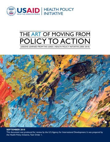 The Art of Moving from Policy to Action: Lessons ... - Futures Group