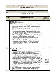 Protokoll der öffentlichen Elternratssitzung vom 16. Februar 2012 ...