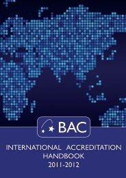 International Accreditation Handbook 2011-12 - BAC