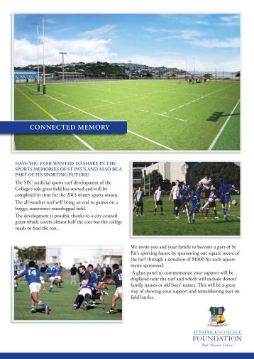 turf sponsorship form - Saint Patrick's College