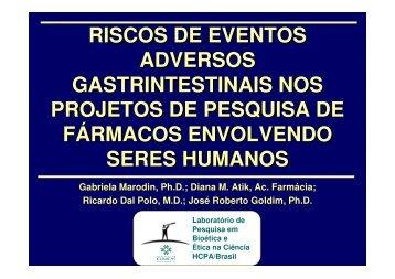 riscos de eventos adversos gastrintestinais nos projetos ... - Epi2008