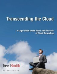A Legal Guide to the Risks and Rewards of Cloud ... - Reed Smith