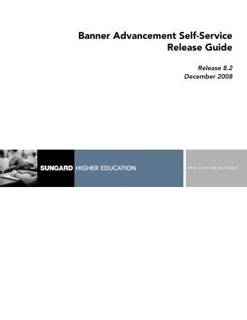 Banner Advancement Self-Service / Release Guide / 8.2