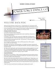 Power Force Dance Co. - Jeannes School of Dance Queen Creek