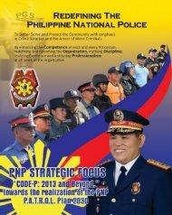 Pğş REDEFıNıNG THE - Philippine National Police