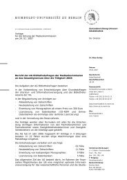 Bericht - Medienkommission - Humboldt-Universität zu Berlin