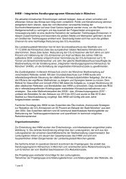 IHKM – Integriertes Handlungsprogramm Klimaschutz in München
