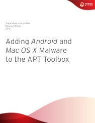 Adding Android and Mac OS X Malware to the APT ... - Trend Micro