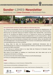 Limes-Newsletter 01/2010 - Initiative Römisches Mainz