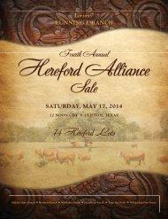 2014 Hereford Alliance Sale WEB