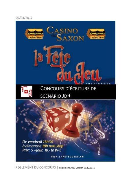 Concours d'écriture de scénario JdR - La Fête du Jeu
