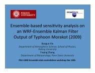 Ensemble Sensitivity Analysis and Observation Targeting for ...