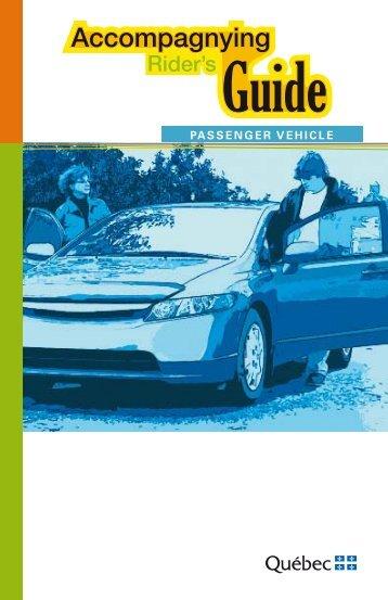 Accompagnying Rider's Guide - Société de l'assurance automobile ...