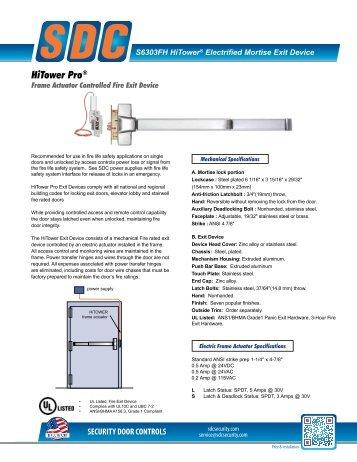 HiTower Pro® - SDC Security Door Controls