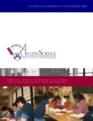 CCESS SCIENCE - Netter Center for Community Partnerships