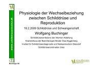 Physiologie der Wechselbeziehung zwischen Schilddrüse und ...