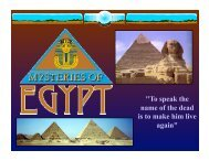 Mysteries of Ancient Egypt: Pyramids