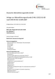 Anlage zur Akreditierungsurkunde MVZ Labor Diagnostik Karlsruhe ...