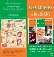 Mission locale - Ville de Levallois