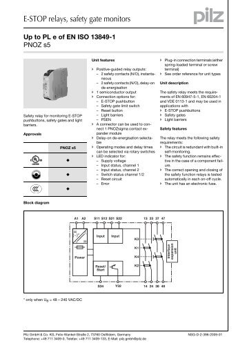 e stop relays safety gate monitors?quality=85 1 emergency pilz pnoz x2 wiring diagram at bayanpartner.co