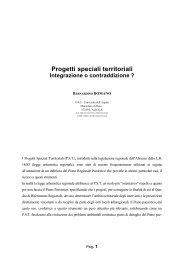 I Progetti Speciali Territoriali della Regione Abruzzo ... - Planeco