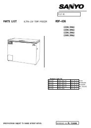 Part List MDF-436-PE - Panasonic Biomedical