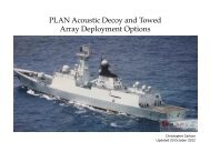 PLA Navy Towed Array and Acoustic Decoy Analysis - Clash of Arms