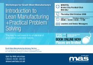 Introduction to Lean Manufacturing +Practical Problem ... - SWMAS