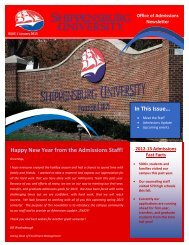 Happy New Year from the Admissions Staff! - Shippensburg University