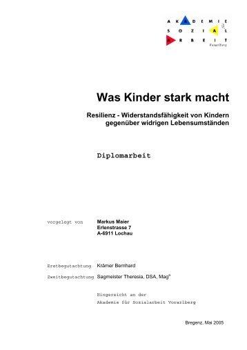 Maier, Markus: Was Kinder stark macht - Vorarlberger Kinderdorf