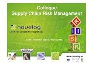 Colloque Supply Chain Risk Management Jeudi 3 ... - Novalog