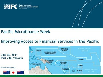 Pacific Microfinance Week Improving Access to Financial Services in ...