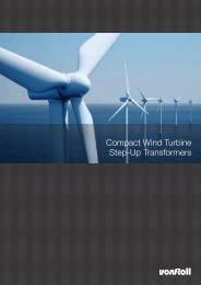 Compact Wind Turbine Step-Up Transformers - Von Roll