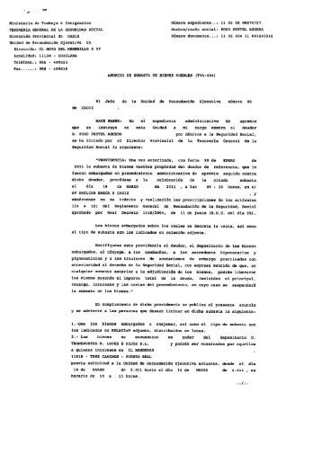 N m 201 martes 19 for Tesoreria seguridad social vitoria