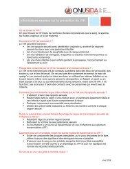 Informations express sur la prévention du VIH - unaids