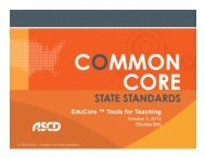 EduCore ™ Tools for Teaching - ASCD Groups
