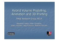 Hybrid Volume Modelling, Animation and 3D Printing