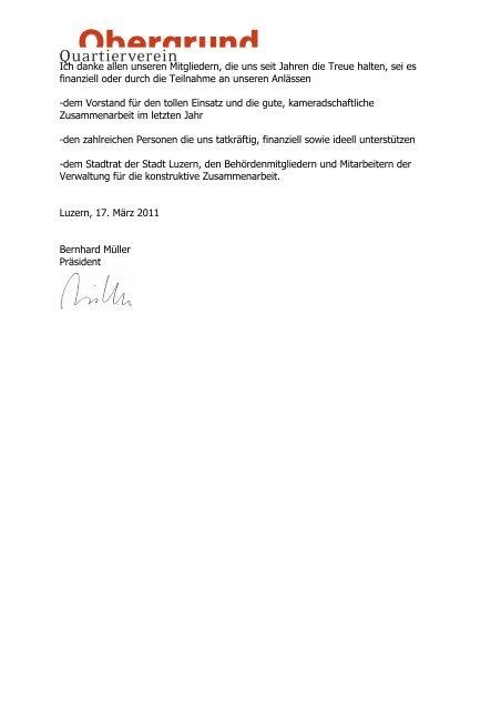Jahresbericht 2010 - Obergrund