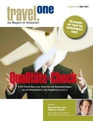 ITB-Ausgabe mit Travel One Nachhaltigkeits- report