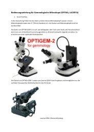 Bedienungsanleitung für Gemmologische Mikroskope ... - Teleskop