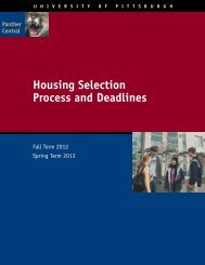Housing Selection Process and Deadlines - Panther Central ...