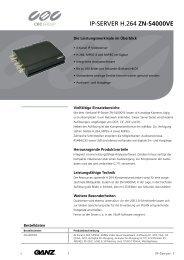 IP-SERVER H.264 ZN-S4000VE - CBC CCTV