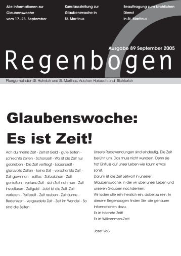 Regenbogen September 2005 - St. Heinrich