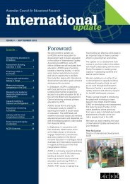 International Update Issue 4, September 2012 - ACER