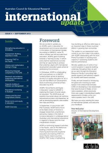 International Update Issue 4, September 2012 - ACER