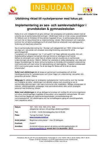 INBJUDAN - Kommunförbundet Skåne