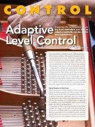 Adaptive Level Control - Emerson Process Management